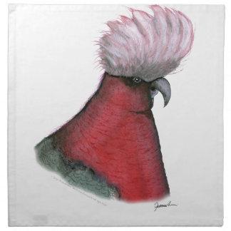galah cockatoo, tony fernandes napkin