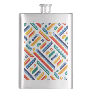 galam 2016 - Jeepney Colours Hip Flask
