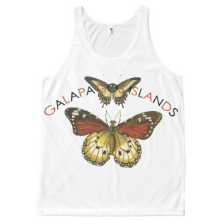Galapagos Islands Butterfly Tank Tops