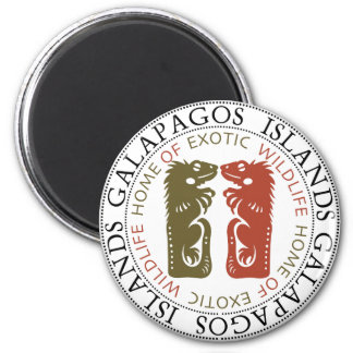 Galapagos Islands Iguanas Magnet