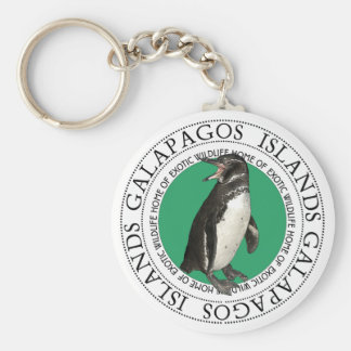 Galapagos Islands Penguin Key Ring
