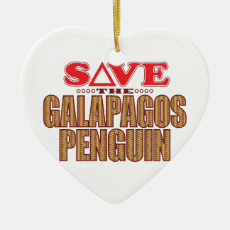 Galapagos Penguin Save Christmas Ornament