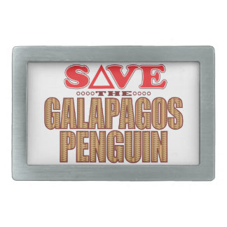 Galapagos Penguin Save Rectangular Belt Buckle