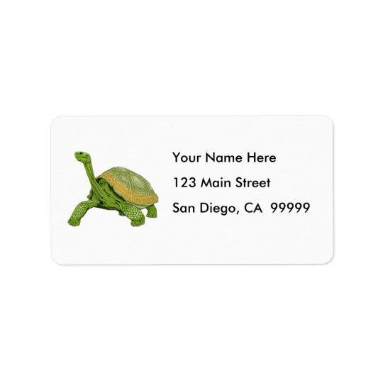 Galapagos Tortoise Address Label
