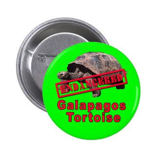 Galapagos Tortoise  Endangered Art Tshirts 6 Cm Round Badge