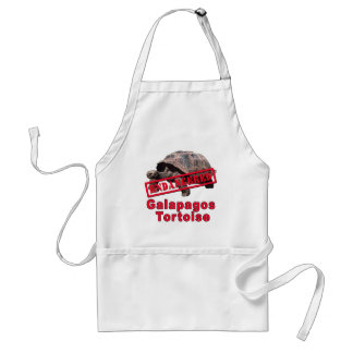 Galapagos Tortoise  Endangered Art Tshirts Standard Apron