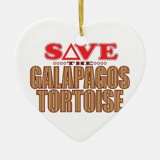 Galapagos Tortoise Save Christmas Ornament