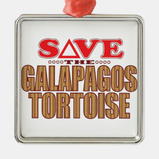 Galapagos Tortoise Save Christmas Ornament