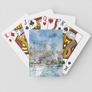 Galata Tower in Istanbul Turkey Poker Deck