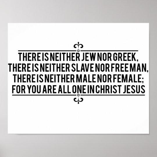 Galatians 3:28 poster