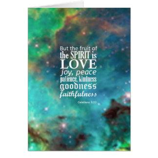 Galatians 5:22 card