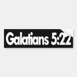 Galatians 5:22 Christian Bumper Sticker