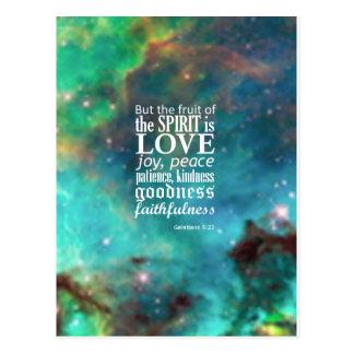 Galatians 5:22 postcard