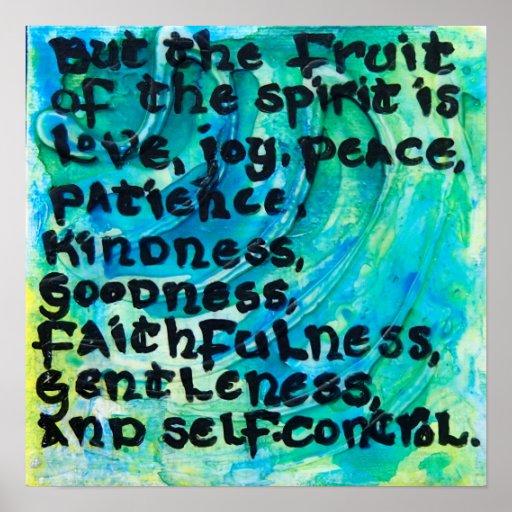 Galatians 5:22 - The Fruit of the Spirit Poster