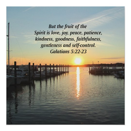 GALATIANS 5 SUNSET PHOTO POSTER