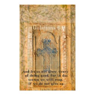 Galatians 6:9 Inspirational Bible verse KINDNESS Customised Stationery
