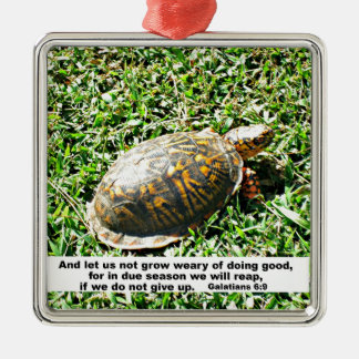 Galations 6:9 And let us not be weary in well... Christmas Ornament