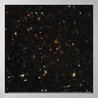 Galaxies, Deep Space image of galaxies Poster