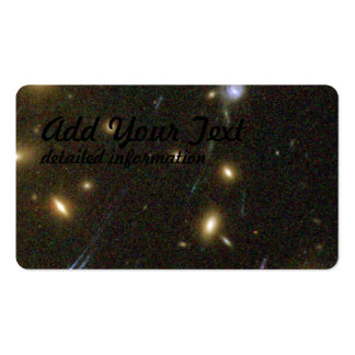 Galaxies Magnified by Galaxy Cluster Abell 1689's Pack Of Standard Business Cards