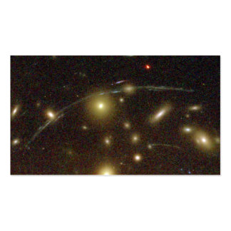 Galaxies Magnified by Galaxy Cluster Abell Business Card Templates