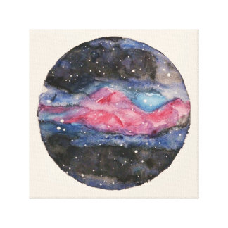 Galaxis Original Watercolor Canvas Print