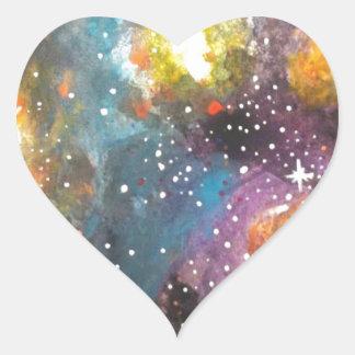 Galaxy 2 heart sticker