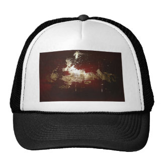 Galaxy - Abstract Expressionist Red Brown Gold Cap