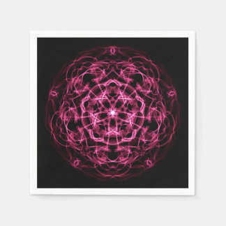 Galaxy abstract mandala. disposable serviette