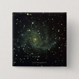Galaxy and Stars 15 Cm Square Badge