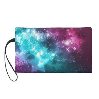 galaxy and stars wristlet purses