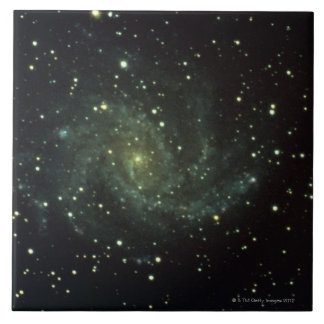 Galaxy and Stars Large Square Tile
