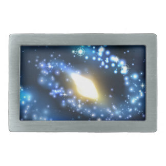 Galaxy and Stars Outer Space Background Belt Buckles