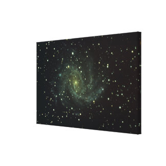 Galaxy and Stars Stretched Canvas Print