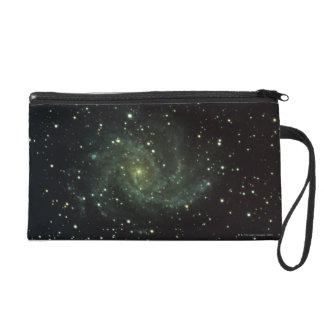 Galaxy and Stars Wristlet Purse