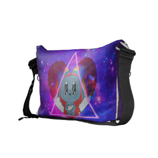 Galaxy Bear Messenger Bag