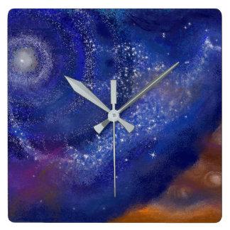 galaxy bird clock