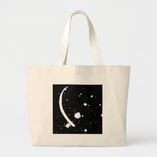 """Galaxy"" (Black / White ) Tote Bag"
