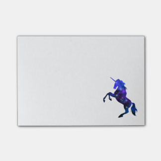 Galaxy  blue beautiful unicorn sparkly image post-it notes