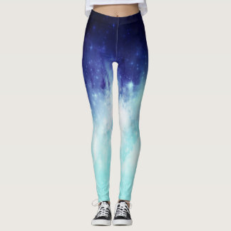 Galaxy bluegreen leggings