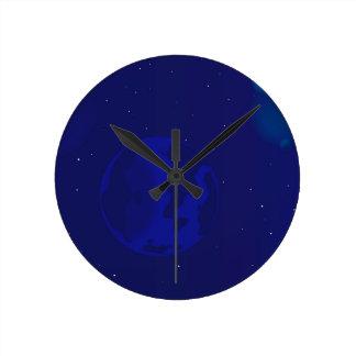 Galaxy Blur Wall Clocks