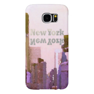 Galaxy Case NYC Urban Pink Skyline Skyscrapers Samsung Galaxy S6 Cases