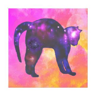 Galaxy Cat Canvas Prints