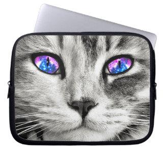 Galaxy Cat Eyes Laptop Sleeve