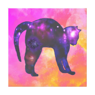 Galaxy Cat Gallery Wrapped Canvas