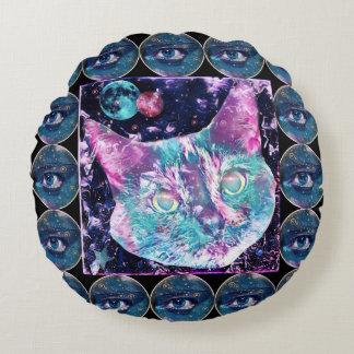Galaxy Cat Round Cushion