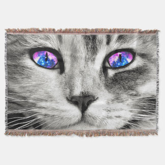 Galaxy Cat Throw Blanket