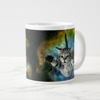 Galaxy Cat Universe Kitten Launch Large Coffee Mug