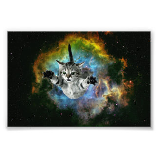 Galaxy Cat Universe Kitten Launch Photo Print
