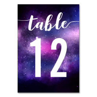 Galaxy Celestial Stars Wedding Dinner Table Number