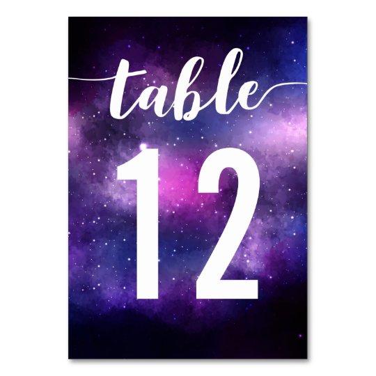 Galaxy Celestial Stars Wedding Dinner Table Number